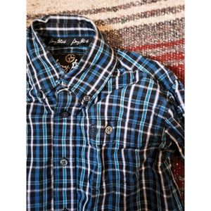 """GEORGE STRAIT"" YOUTH BUTTON UP - BLUE"